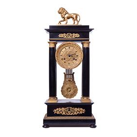 """Французские часы E.D. LECERF A GAND"""" в неоклассическом стиле, 61 см"""