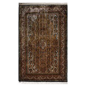 Шёлковый ковер из Кума, 176 х 106 см