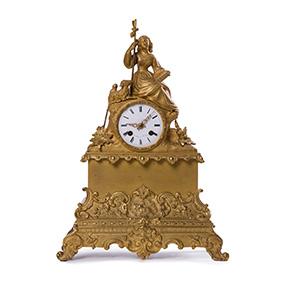 Французские бронзовые часы, 40 см
