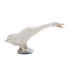 """Миниатюрная статуэтка Lladro """"Шипящий гусь, 7.8 см"""