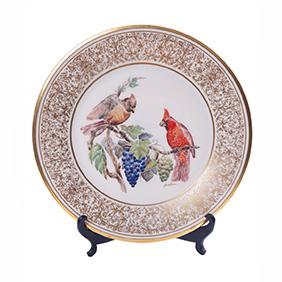 """Коллекционная тарелка LENOX """"Птицы Кардинал"""" (США), 27 см"""