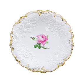 Фарфоровое блюдо Meissen с цветком, 28 см