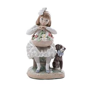 """Статуэтка Lladro """"Девочка с цветами"""", 21.5 см"""