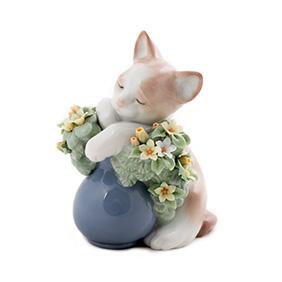 "Статуэтка Lladro ""Dreamy Kitten"", 10.5 см"