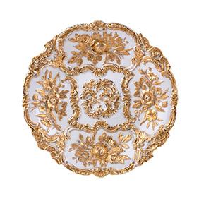 Блюдо Meissen с рельефным цветочным орнаментом, 30.5 см