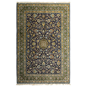 Большой персидский ковёр из Кума, 360 х 255 см