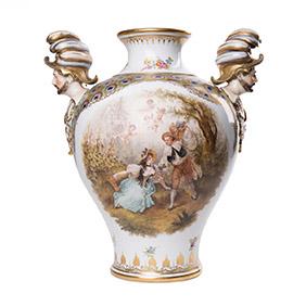 Эффектная ваза мануфактуры CARL THIEME, 32.5 см