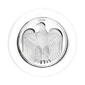 """Коллекционная хрустальная тарелка Lalique """"1976 год"""", 21.7 см"""