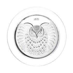 """Коллекционная хрустальная тарелка Lalique """"1971 год"""", 21.2 см"""