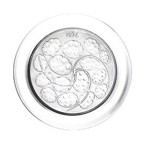 """Коллекционная хрустальная тарелка Lalique """"1974 год"""", 21 см"""