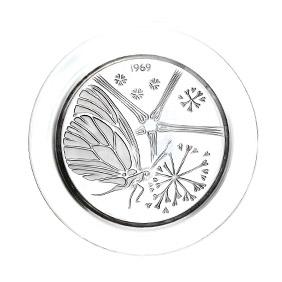 """Коллекционная хрустальная тарелка Lalique """"1969 год"""", 21 см"""