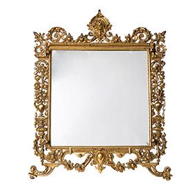 Бронзовое настольное зеркало в стиле BAROCCO, 41.5 см