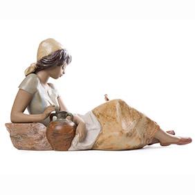 "Статуэтка Lladro ""Девушка с птицей"", 25.5 см"