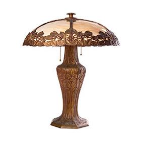 Настольная лампа с растительными мотивами, 54 см
