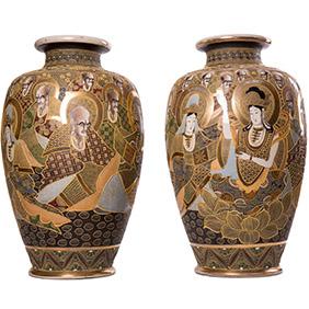 Большие вазы SATSUMA с портретами Святых, 54 см
