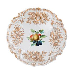 Блюдо Meissen с композицией из фруктов, 30 см