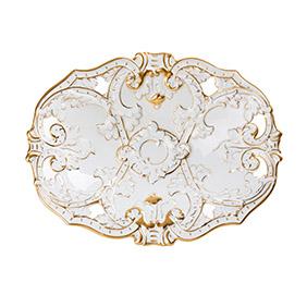 Фарфоровое блюдо Meissen с рельефным рисунком, 33.5 см