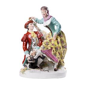 Французская сюжетная статуэтка автора H.GIRAUD, 34 см