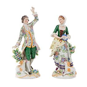 """Парные статуэтки Sitzendorf """"Танцующая пара"""", 27 см"""