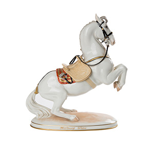 Фарфоровая статуэтка коня австрийской мануфактуры AUGARTEN, 21.5 см