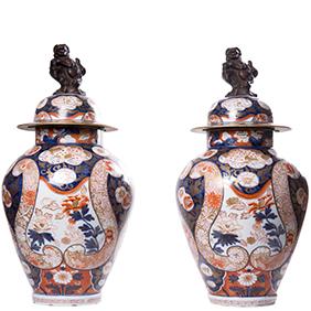 Большие японские вазы IMARI, 63 см