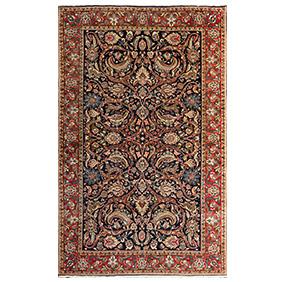 Персидский сюжетный ковёр Сарук, 210 х 130 см