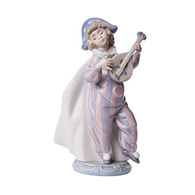 "Фарфоровая статуэтка Lladro ""MANDOLIN SERENADE"", 17.5 см"