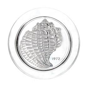 """Коллекционная хрустальная тарелка Lalique """"1972 год"""", 21.5 см"""