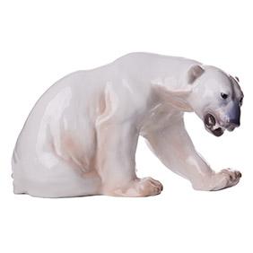"""Большая статуэтка """"Полярный медведь"""" мануфактуры B&G, 35 см"""