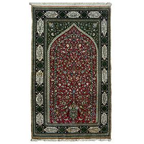 Персидский ковер с изображением дерева жизни, 225х144 см