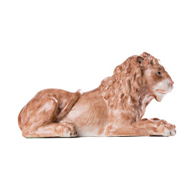 "Статуэтка ""Лев"", мануфактуры Edme Samson, 16.5 см"