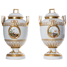 Старинные вазы мануфактуры Furstenberg (18 век), 39 см