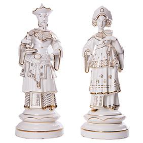 Китайская императорская пара мануфактуры Neutettau, 41 см