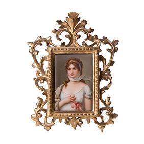 Портрет Прусской королевы Луизы на фарфоре, 26 см