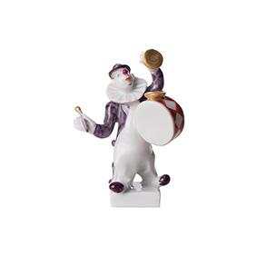 """Миниатюрная статуэтка MEISSEN """"Клоун с барабаном"""", 7.5 см"""