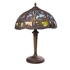 Настольная лампа Edward Miller & Co в стиле арт-нуво, 58 см