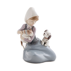 "Фарфоровая статуэтка LLADRO ""Little Friskies"", 17 см"