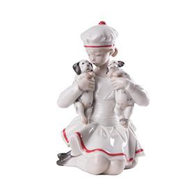"""Коллекционная статуэтка LLADRO """"GIRL WITH DALMATIANS"""", 16 см"""