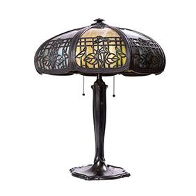Настольная лампа с цветочными мотивами, 55 см