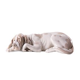 "Фарфоровая статуэтка LLADRO ""Старый пёс"", 24 см"