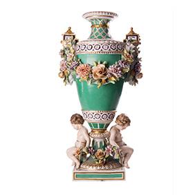 Большая декоративная ваза VOLKSTEDT PORCELAIN FACTORY, 44 см