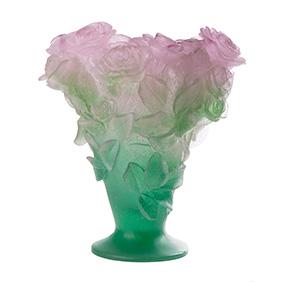 """Хрустальная ваза DAUM """"Roses"""", 28.5 см"""