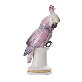 """Фарфоровый попугай KARL ENS """"Розовый Какаду"""", 39 см"""